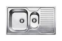 Кухонная мойка с фруктовницей и крылом из нержавеющей стали толщиной 0,8 мм Fabiano 88х50х15