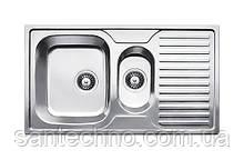Кухонна мийка з фруктовницей і крилом з нержавіючої сталі товщиною 0,8 мм Fabiano 88х50х15