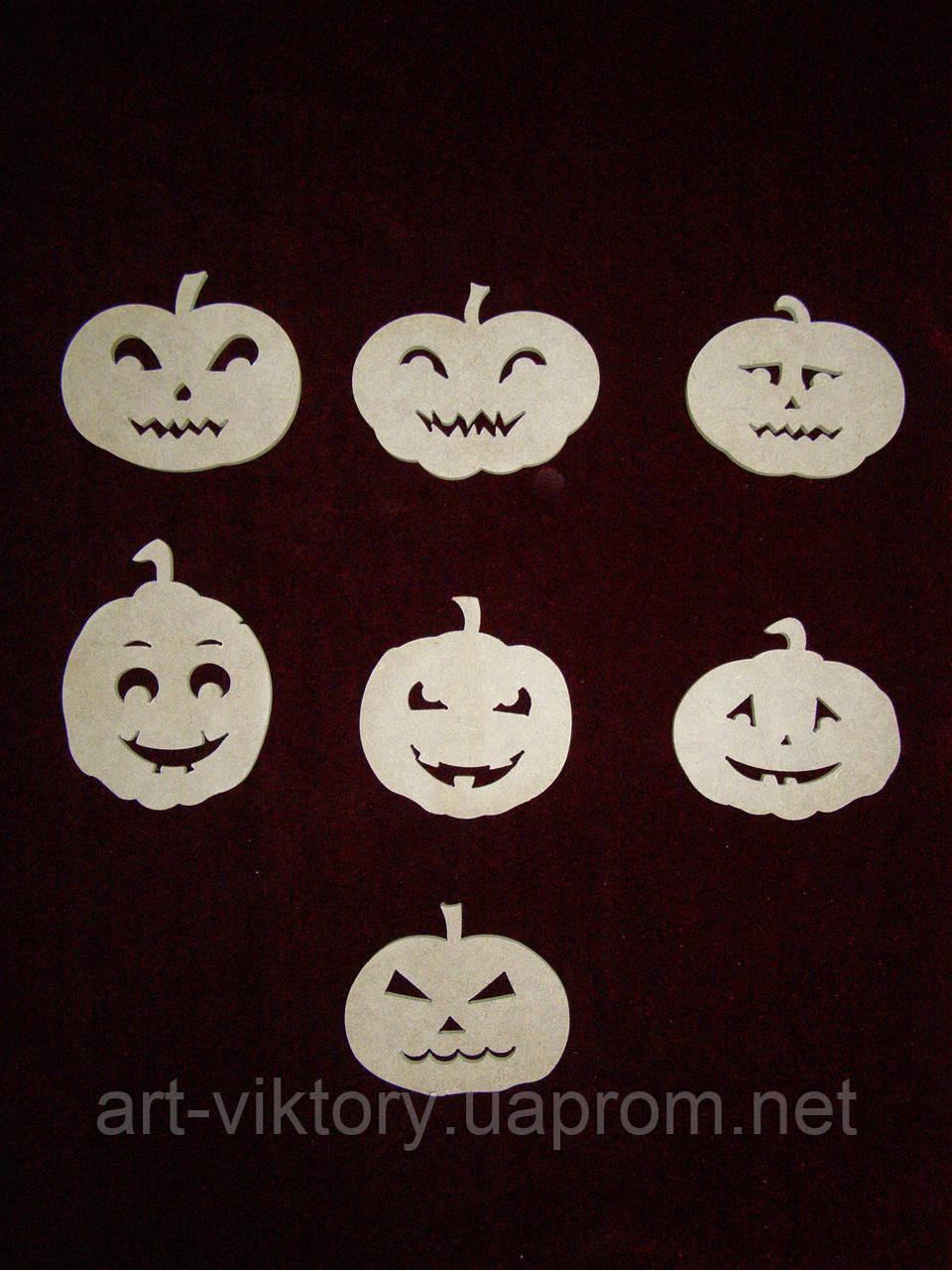 Тыквы на Хеллоуин (8 х 8 см), декор