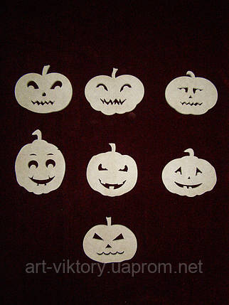 Тыквы на Хеллоуин (8 х 8 см), декор, фото 2