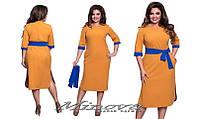 """Платье женское  """"Лада"""" с разрезами по бокам турецкая костюмка  размеры 48-54"""