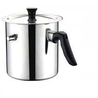 Молочник кастрюля со свистком    да, да, нержавеющая сталь, для дома, 2, молочник, серый