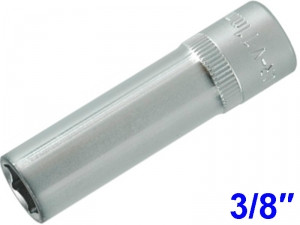 "YATO Головка торцева 6-гран. подовжена , з квадр. 3/8"" М=11 мм, L=63 мм,"