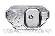 Кутова кухонна мийка з нержавіючої сталі Fabiano 85х47