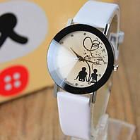 Наручные часы с белым ремешком код 188
