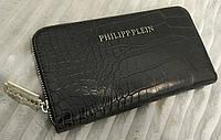Фирменный женский кошелек Philipp Plein черный