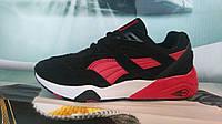 Мужские кроссовки PUMA Trinomic замша черные с красным