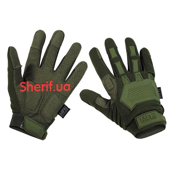 Перчатки тактические Max Fuchs Action Olive с откидными пальцами 15843B