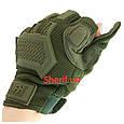 Перчатки тактические Max Fuchs Action Olive с откидными пальцами 15843B, фото 6