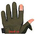 Перчатки тактические Max Fuchs Action Olive с откидными пальцами 15843B, фото 8