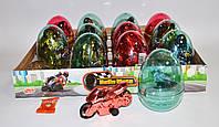 Мотоцикл в пластиковом яйце 12 шт Prestige