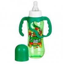 Бутылочка для кормления с ручками, пластиковая (250 мл), арт. 1110