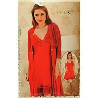 Комплект женский ночная рубашка и халат Flosh 445