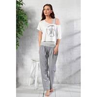 Комплект женский футболка + майка + штаны Gizzey 6924