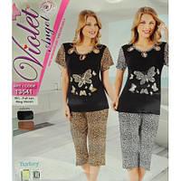 Комплект женский футболка и бриджи Violet 13541