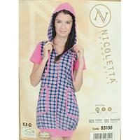 Халат домашний короткий Nicoletta 83108