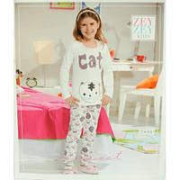 Пижама для девочки  футболка и штаны Zey Zey kids 7400