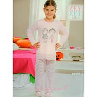 Пижама для девочки  футболка и штаны Zey Zey kids 7390