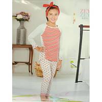 Пижама для девочки теплая футболка и штаны Zey Zey kids 7375