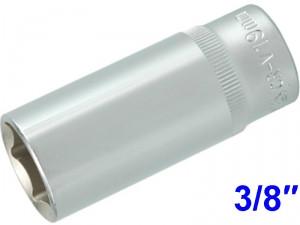 "YATO Головка торцева 6-гран. подовжена , з квадр. 3/8"", М=19 мм, L=63 мм,"