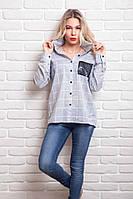 Модная рубашка прямого фасона