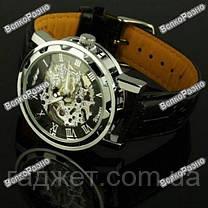 Мужские механические часы Winner Skeleton, фото 3