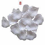 Лепестки роз искусственные  БЕЛЫЕ 100 шт, фото 4