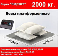 Платформенные весы 1000х1000мм, 2000кг. Бюджет