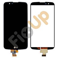 Дисплей LG K10 K420N, K430DS, K430DSF, K430DSY с тачскрином в сборе, цвет черный
