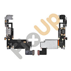 Шлейф для iPhone 6S Plus с разъемом зарядки и наушников, цвет серый