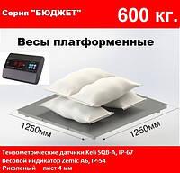 Платформенные весы 1250х1250мм, 600 кг. Бюджет.