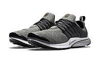 Кроссовки Nike Air Presto TP QS Fleece Pack tumbled grey/black