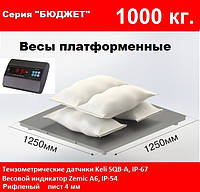 Платформенные весы 1250х1250мм, 1000 кг. Бюджет.