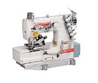 Siruba F007K-W222-356/FQ/FAC плоскошовная швейна машина з пристроями подачі і пневмообрезки бейки, фото 1