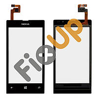 Тачскрин (сенсор) Nokia 520, 525 Lumia, цвет черный, копия высокого качества
