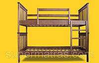 Кровать двухъярусная из натурального дерева Тис Трансформер 4