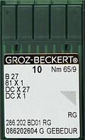 Игла Groz-Beckert B27, 81x1, DCx27 GEBEDUR оверлочная с позолотой 10 шт/уп