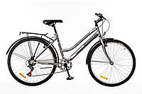 "Велосипед 26"" Discovery PRESTIGE WOMAN 14G Vbr рама-17"" St  серо-черный с багажником St,с крылом St 2017"