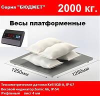 Платформенные весы 1250х1250мм, 2000 кг. Бюджет.