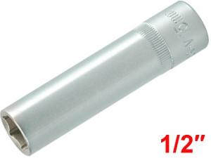 "YATO Головка торцева 6-гран. подовжена , з квадр.1/2"", М=15 мм, L=76 мм,"