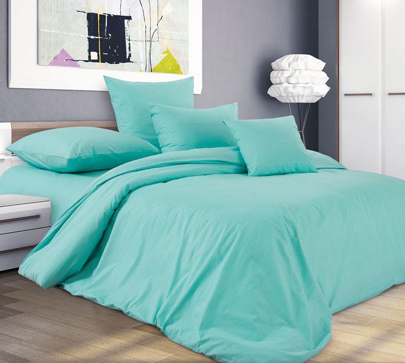 Комплект постельного белья двуспальный, перкаль Мятное дыхание