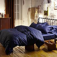 Комплект постельного белья полуторный, сатин Classic Blue