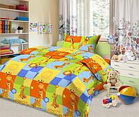 Постельное белье в кроватку Жирафы, детское постельное белье