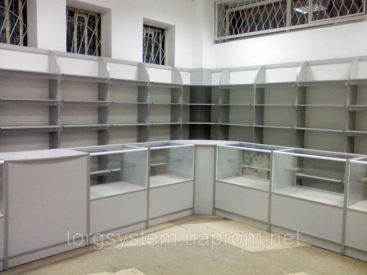 Отдел торговый магазин ДСП+алюминий