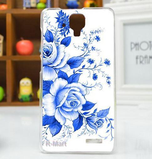 Оригинальный бампер для Lenovo A536 с картинкой Синие розы