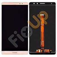 Дисплей Huawei Mate 8 с тачскрином в сборе, цвет золотой, большая микросхема