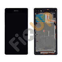 Дисплей Sony Xperia Z2 (D6502 L50w, D6503) с тачскрином в сборе, с рамкой, цвет черный