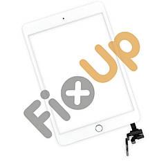 Тачскрин (сенсор) iPad Mini 3, цвет белый, с кнопкой и коннектором