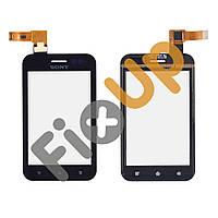 Тачскрин (сенсор) Sony ST21i Xperia Tipo, большая или маленькая микросхема, цвет черный