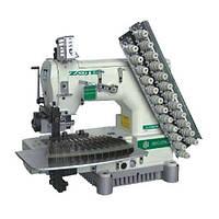 Zoje ZJ1414-100-403-601-616-12064  Двенадцатиигольная машина для пришивания эластичной нити